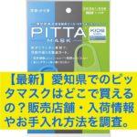 【最新】愛知県でのピッタマスクはどこで買えるの?販売店舗・入荷情報やお手入れ方法を調査。