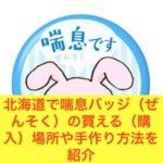 北海道で喘息バッジ(ぜんそく)の買える(購入)場所や手作り方法を紹介
